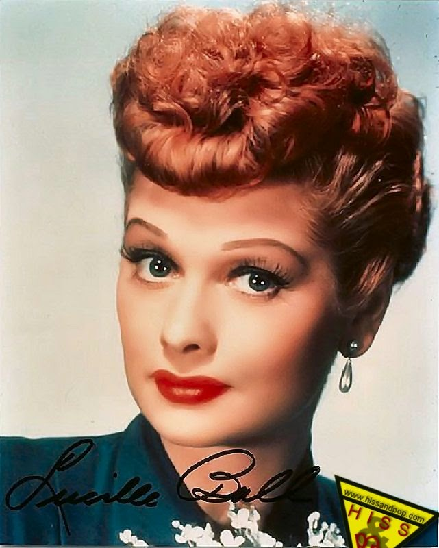 Lucille Ball via Lexi DeRock of Voluptuous Vintage Vixen Blog