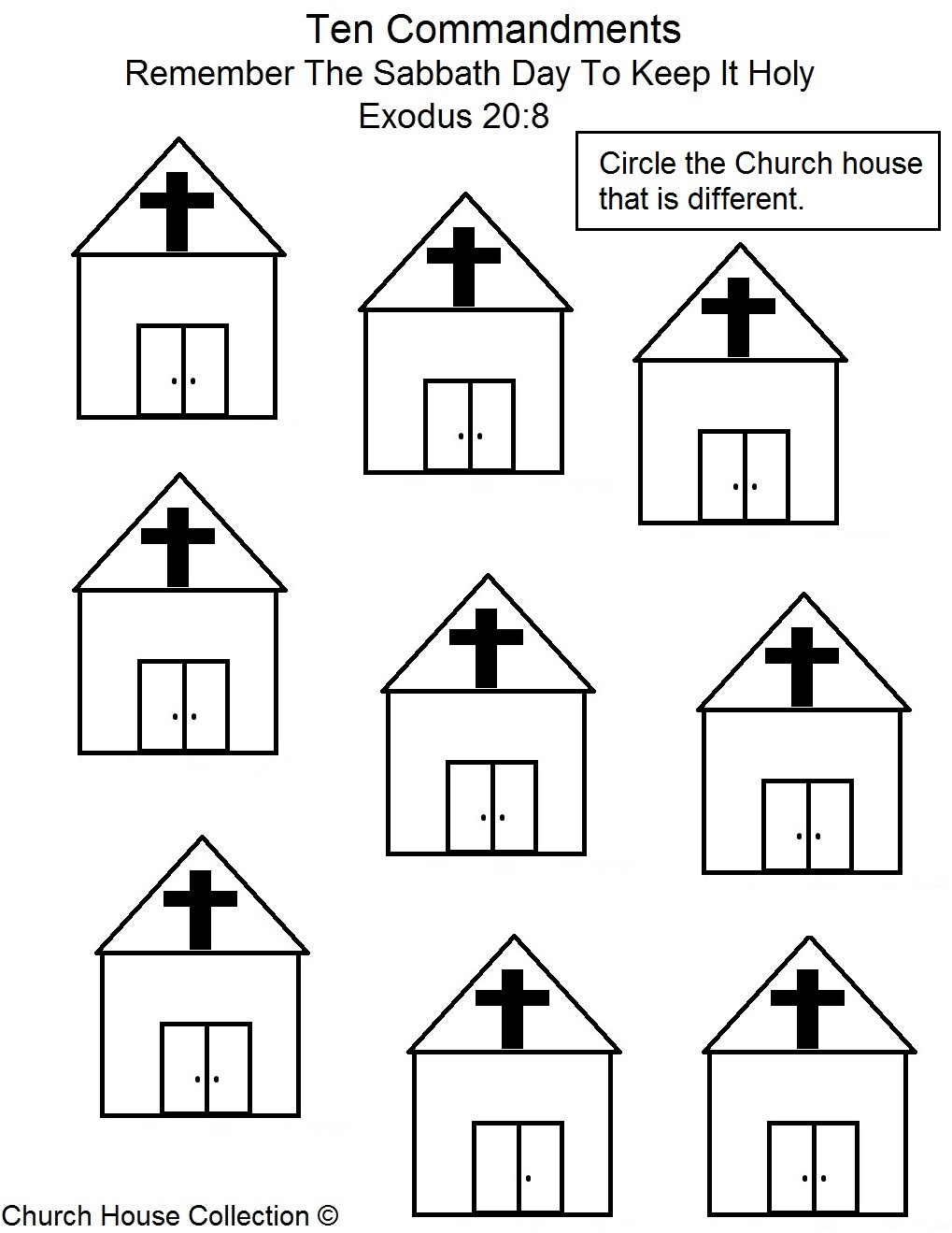 Church House Collection Blog: Remember The Sabbath Day To Keep It  math worksheets, worksheets, free worksheets, education, and grade worksheets Ten Commandments Worksheets For Kids 1319 x 1019