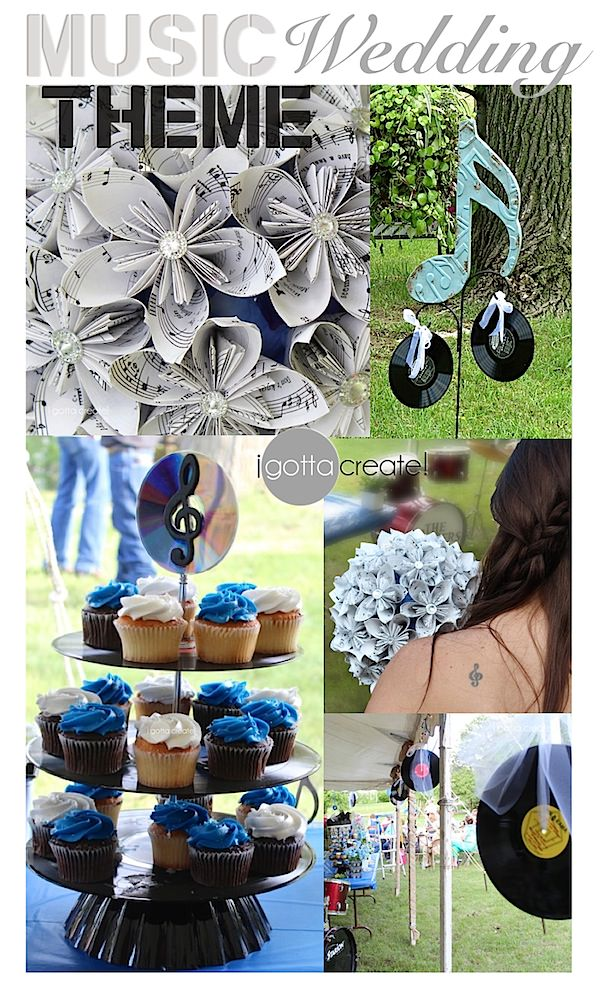 Music Themed Wedding Ideas at I Gotta Create!