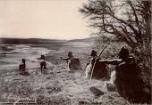 Indios Selk´nam (Ona) cazando