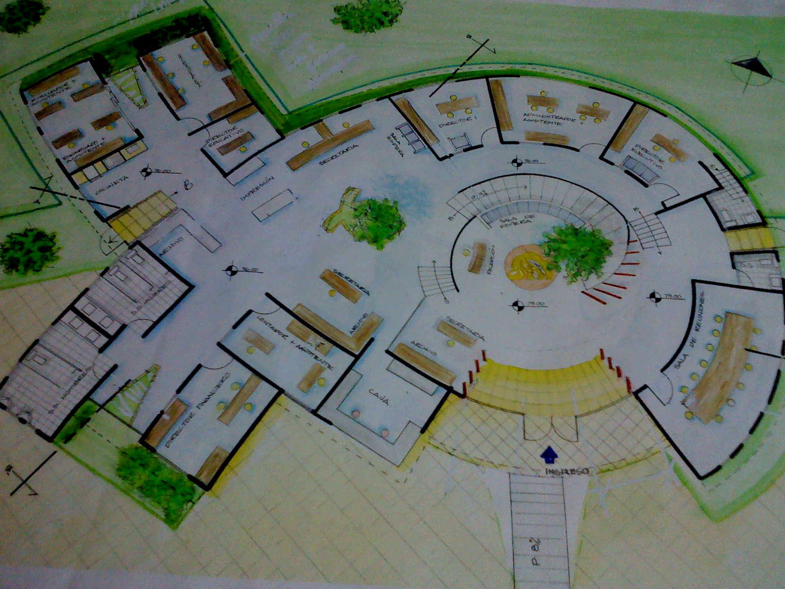 Dise o arquitectonico 3 for Diseno de oficinas administrativas