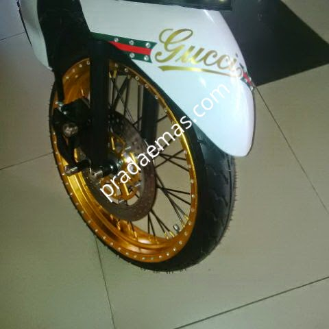motor gold chrome sistem tempel