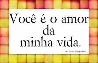 eres el amor de mi vida en portugues