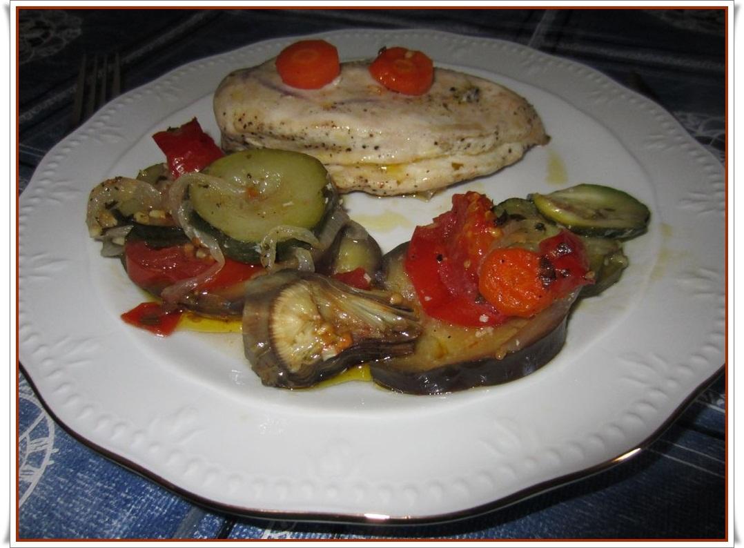 Pechuga de pollo al horno con verduras images - Pechugas de pollo al horno ...