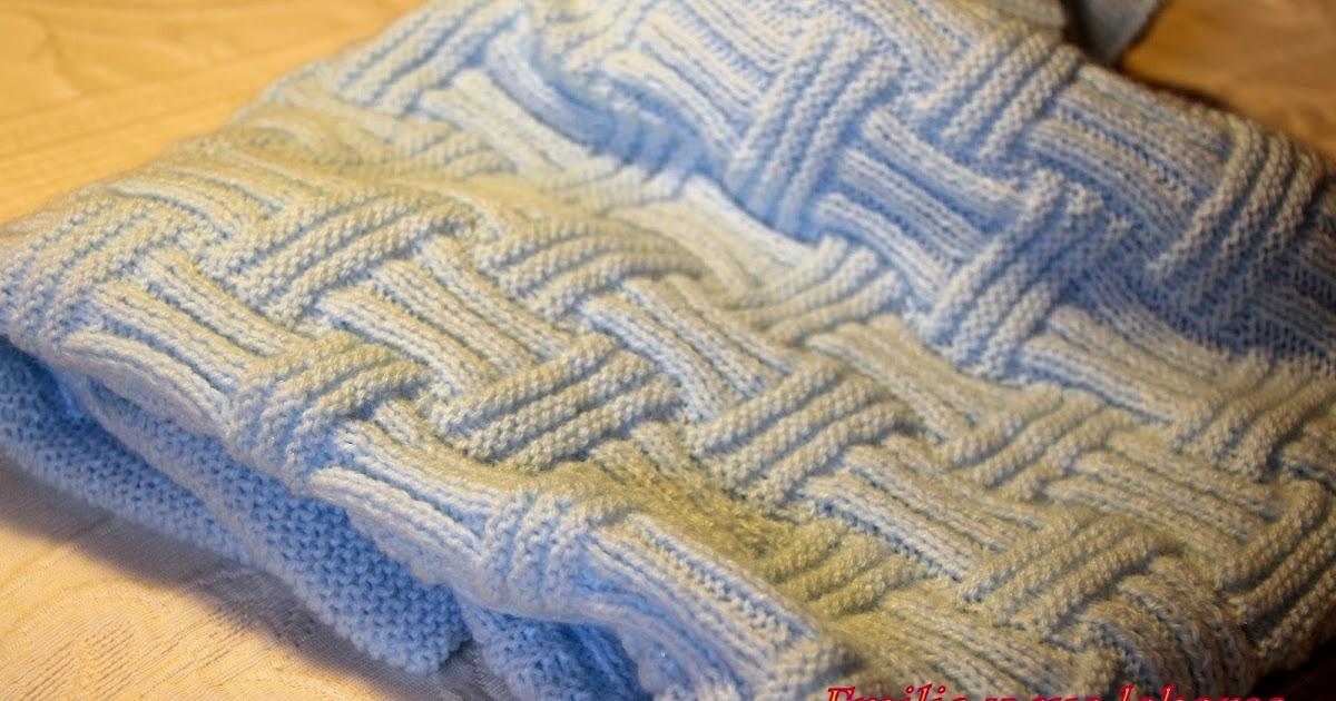 Emilia y sus labores de punto mantita para beb - Labores de punto de lana ...