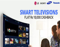 Buy Smart Televisions Flat Rs.9999 Cashback from Rs.50550 : Buytoearn