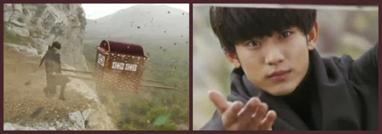 Do Min Joon rescues a carriage passenger from falling off a cliff.