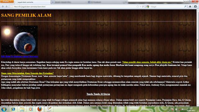 CONTOH MEMBUAT DESAIN HTML/ WEB SEDERHANA - macam-macam ilmu