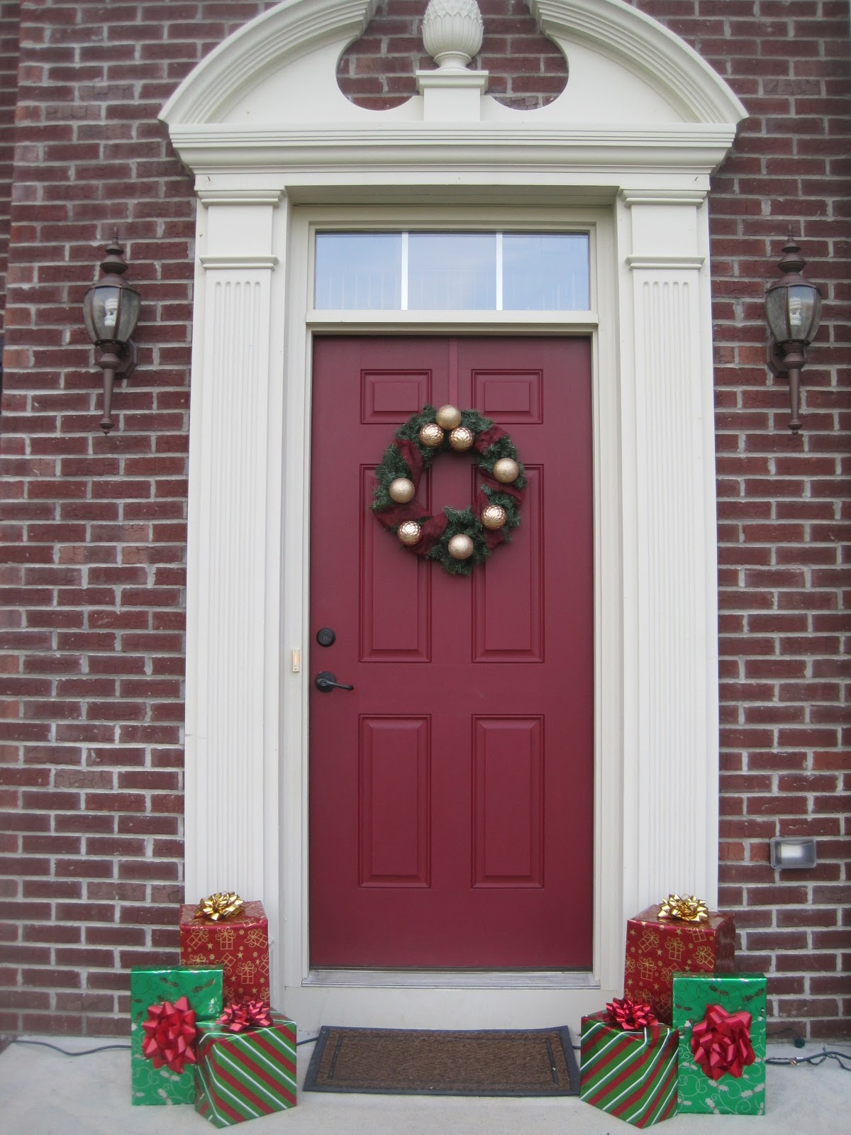 Outdoor Christmas Bows For Porch