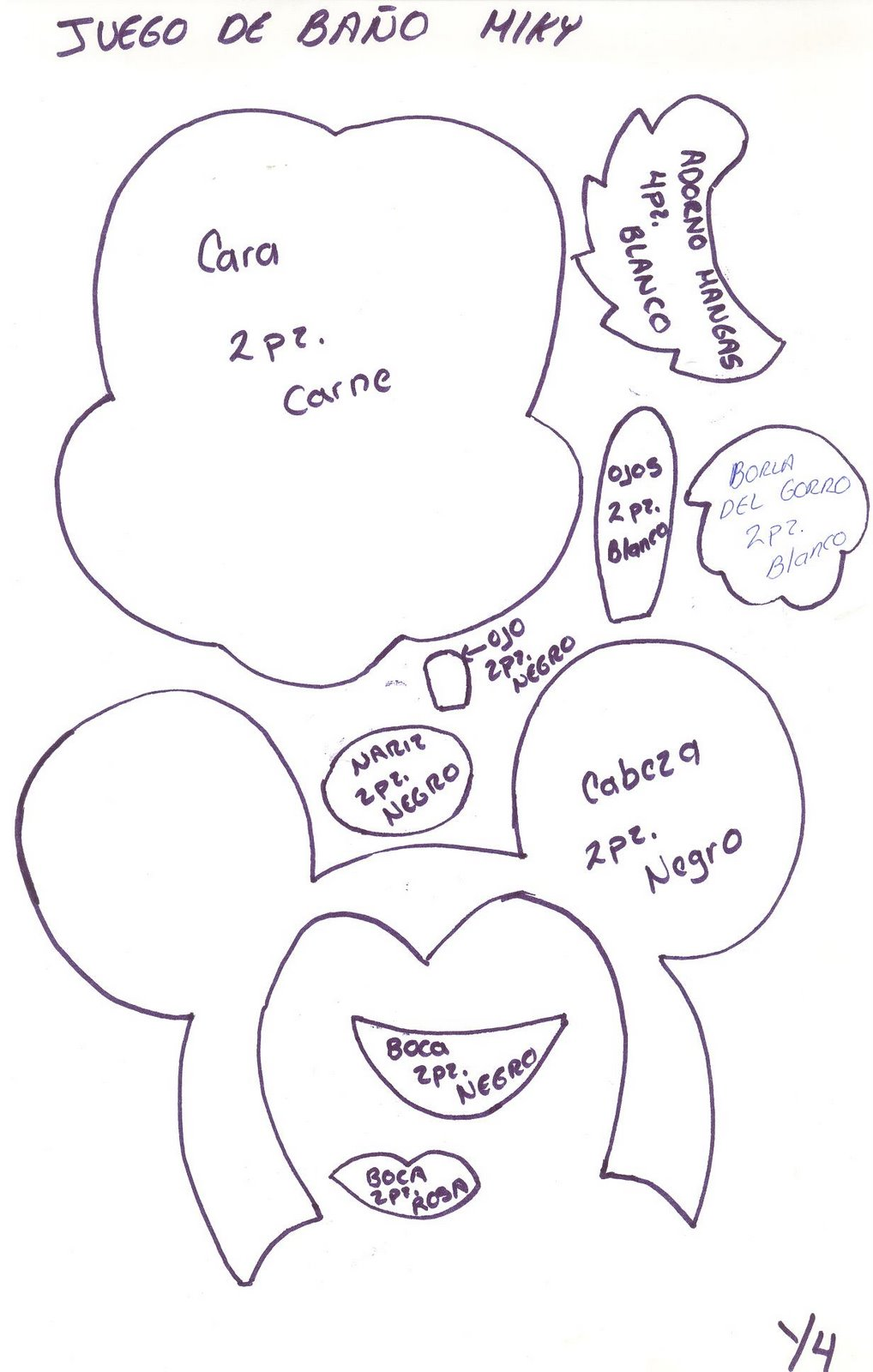 Juego De Baño Navideno Manualidades:Moldes De Mickey Mouse