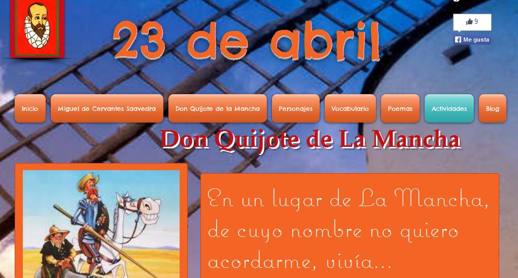 http://catiperezaparicio.wix.com/donquijotedelamancha#!actividades/c1slg