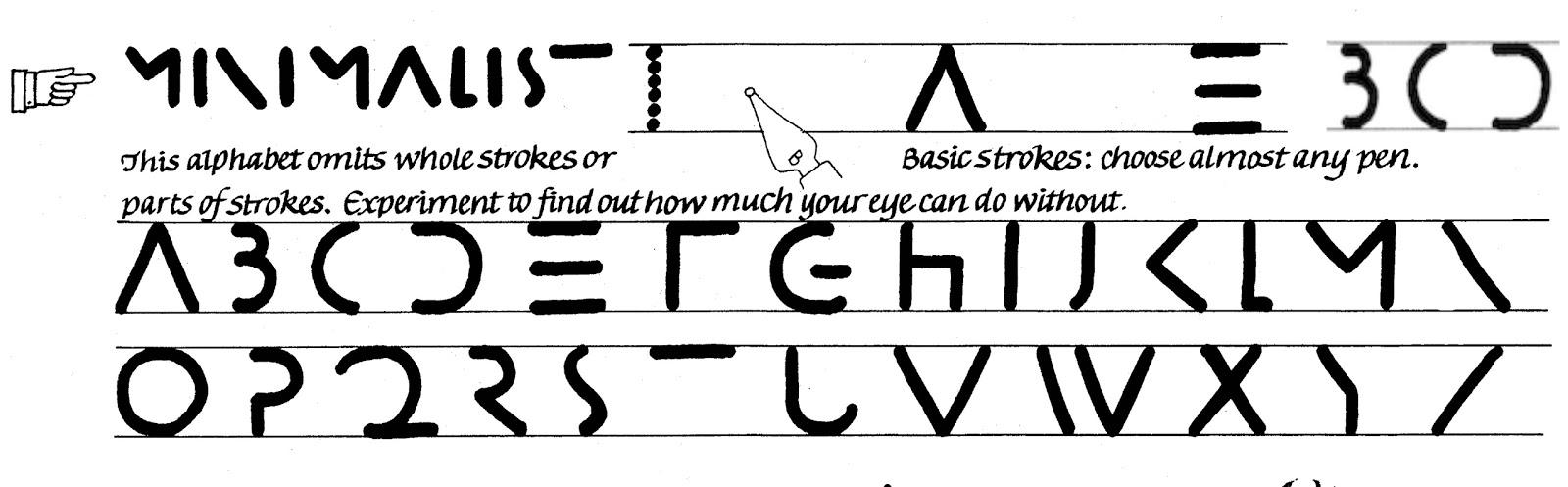 Margaret Shepherd: Calligraphy Blog: 103 Minimalist
