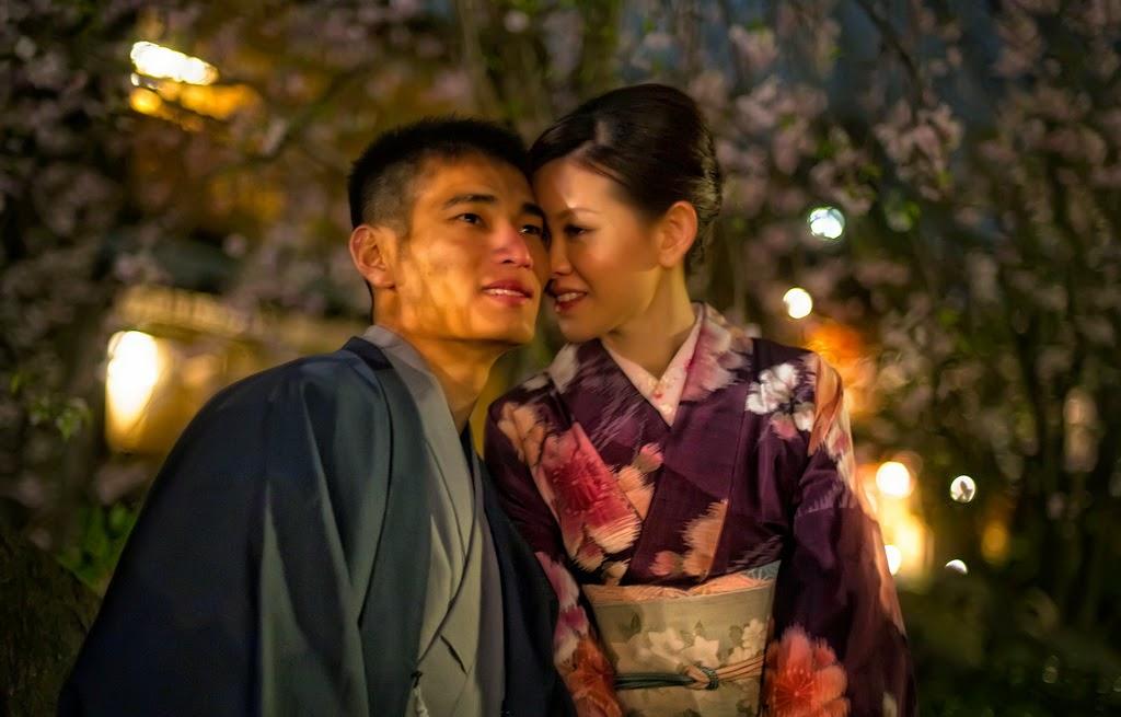 Pareja japonesa en yukata