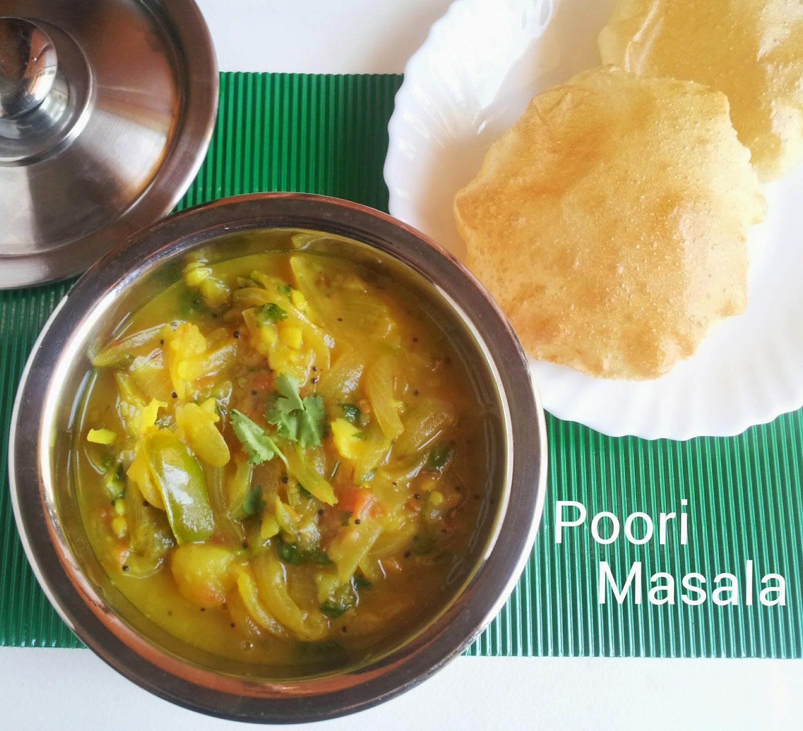 poori / puri potato masala