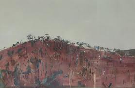 Hillside - Fred Williams painting