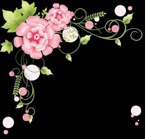 Arte digital: Etiquetas y bordes florales