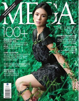 Heart Evangelista covers Mega Magazine