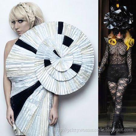 Лейди Гага огромна шапка