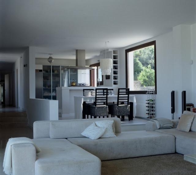sofa blanco diseño