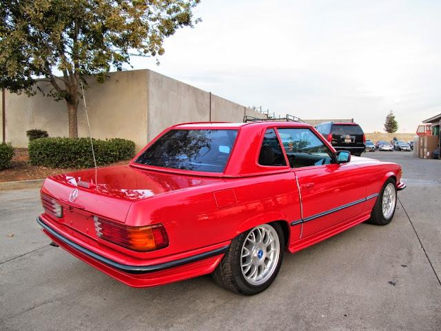 mercedes sl 107 red custom