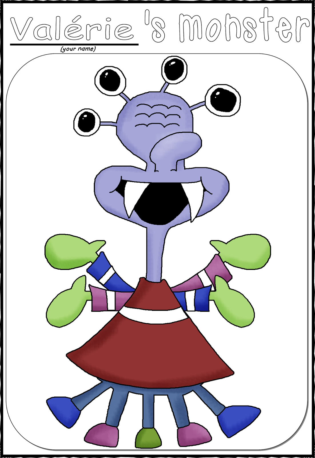 Funny Miss Valu00e9rie: Monsters and Body Parts