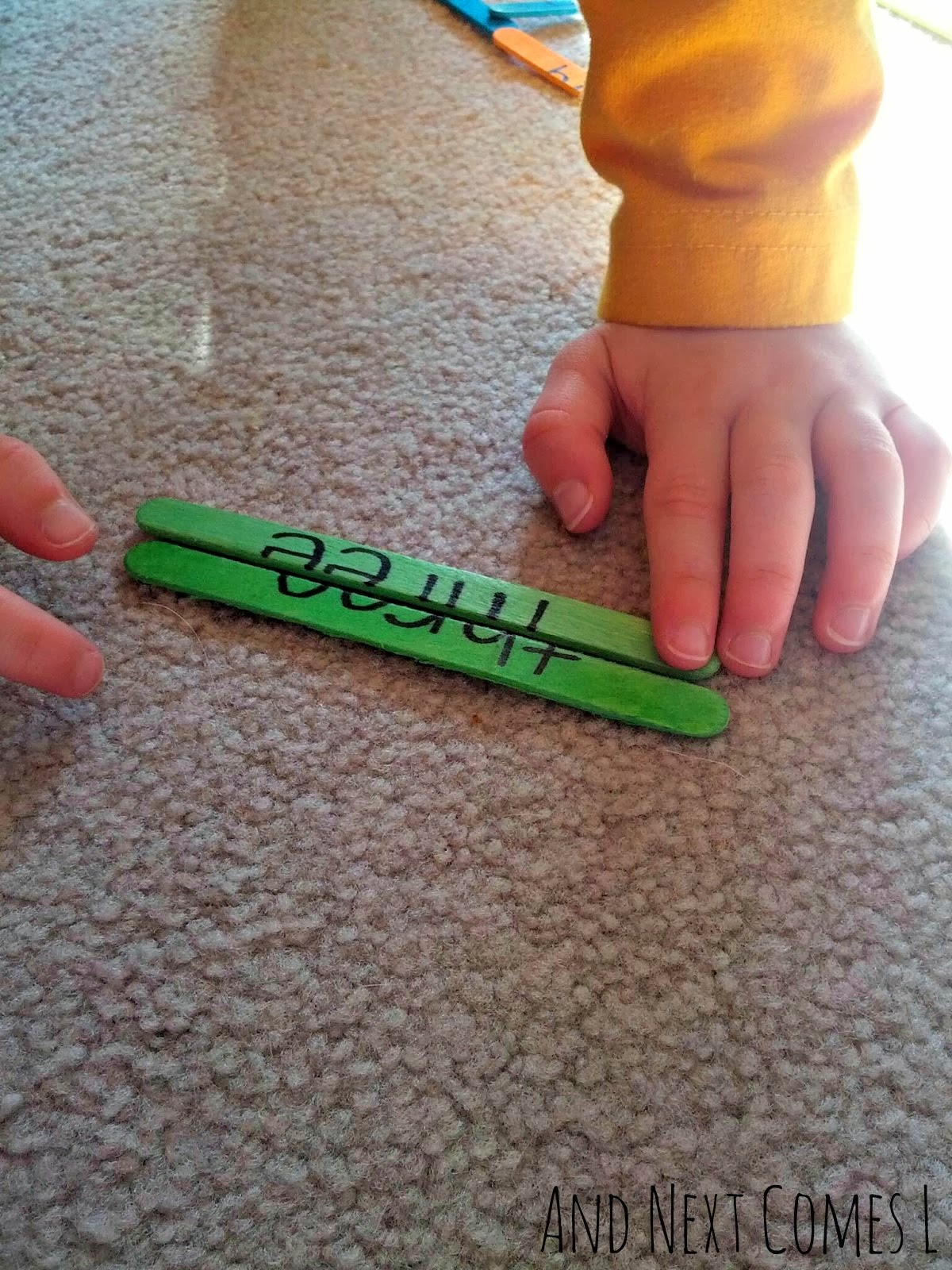 Making sight word puzzles from And Next Comes L