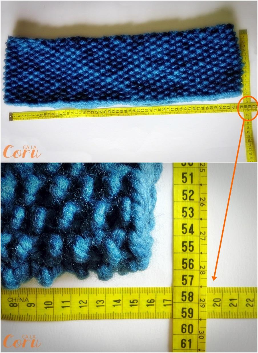 Cuello de lana a punto de arroz handbox craft lovers - Puntos de lana ...
