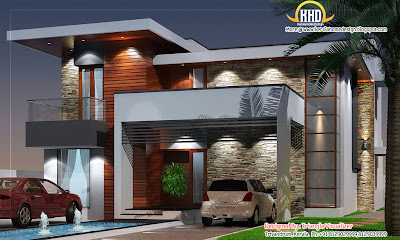 Modern House Elevation - 2831 Sq. Ft. | Indian Home Decor