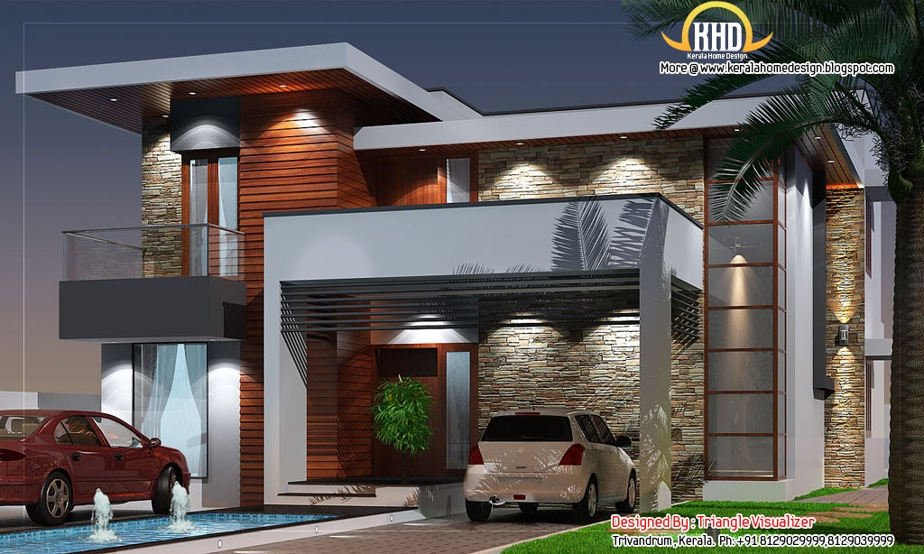 Modern House Elevation 2831 Sq Ft Home Appliance
