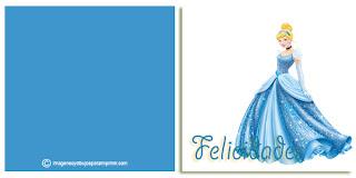Felicitaciones para imprimir para cumpleaños princesas disney