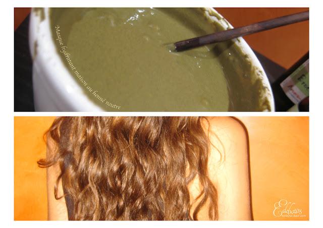 masque henné neutre lait de coco cheveux secs