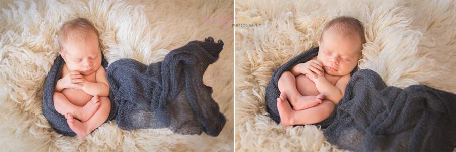 newborn boy sleeping wrapped egg wrap swaddle photography pose