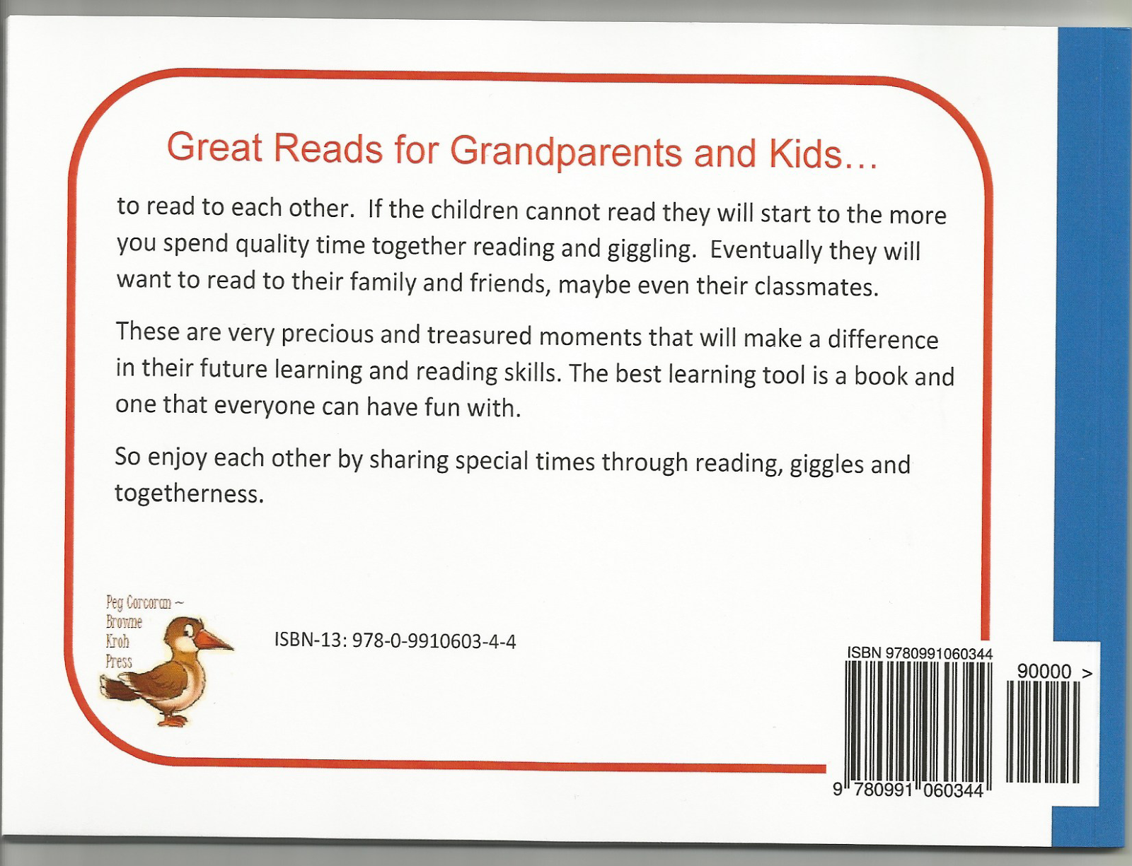 Back of each book has a little information about its motivation.