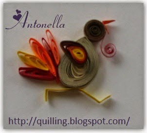 Quilled Turkey pattern from Antonella at www.quilling.blogspot.com