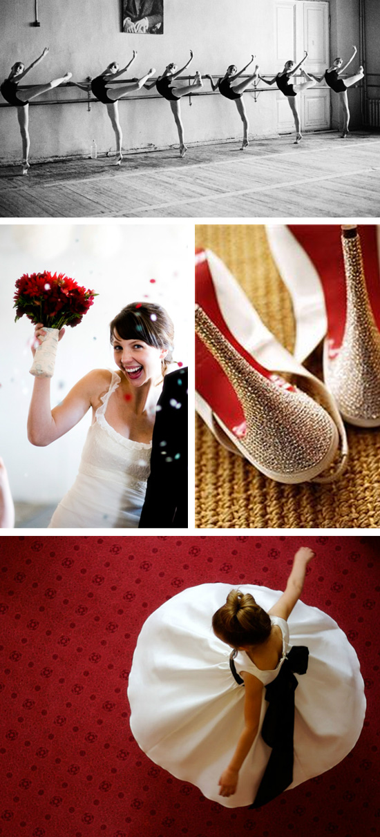 9 Ladies Dancing Christmas Wedding Inspiration Board