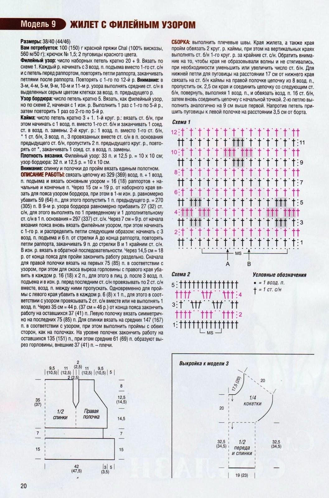 Вывязывание горловины в филейном вязании