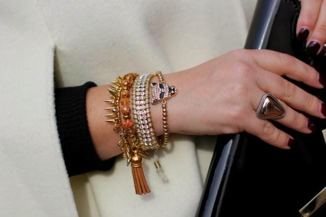Bracelets from TJ Maxx and Stella & Dot