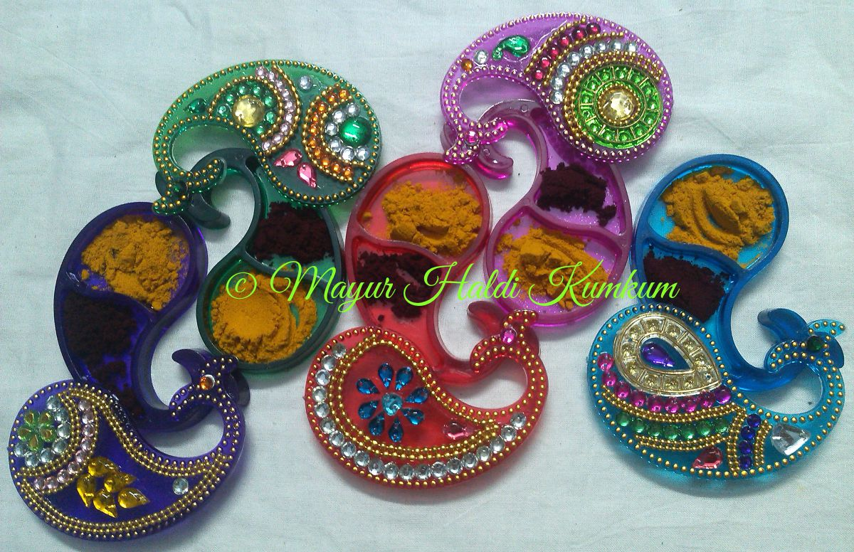 Mayur arts crafts haldi kumkum boxes - Gruhapravesam gifts ideas ...