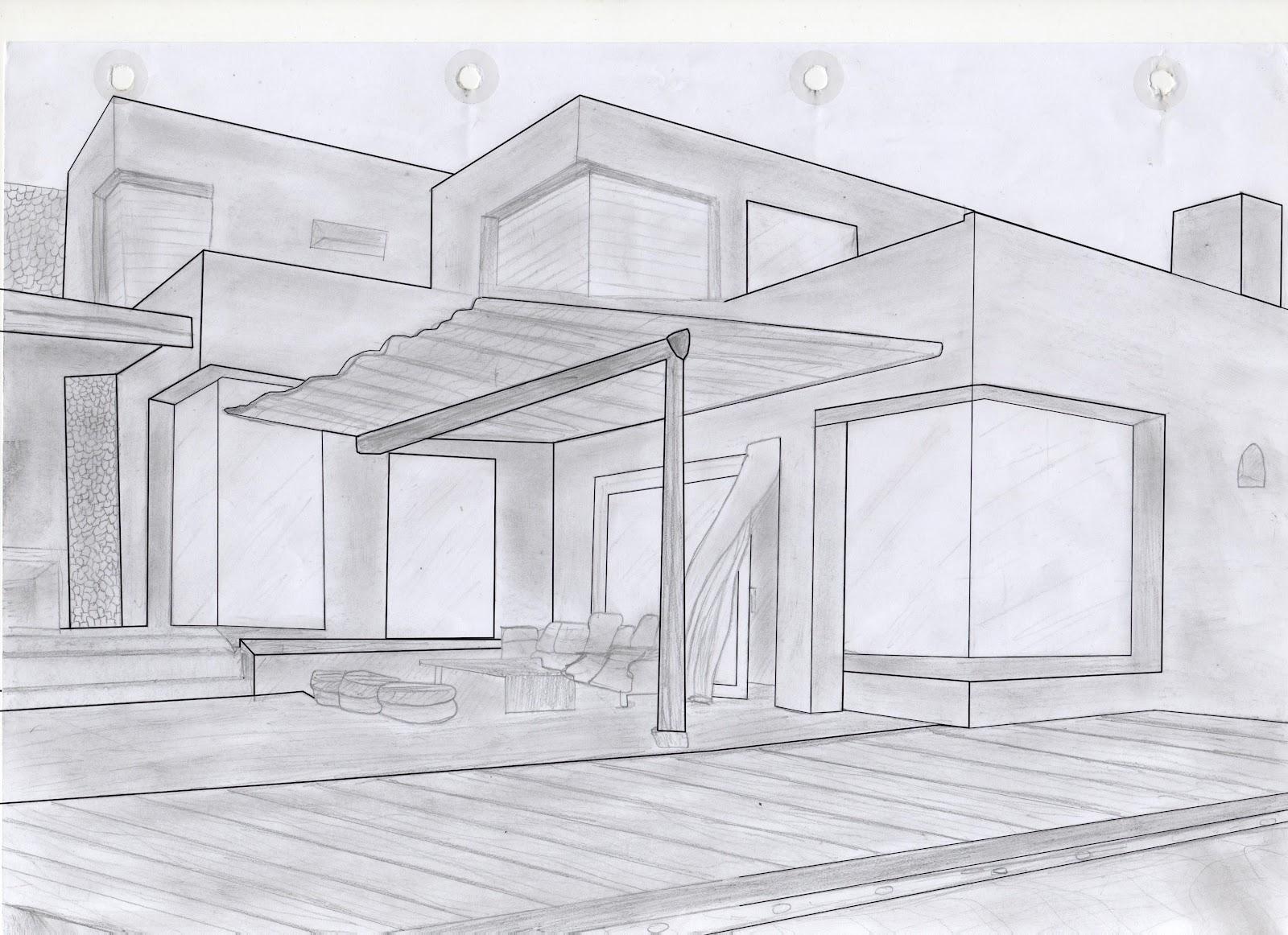 Dibujo y dise o digital casa modular de piedra - Fotos de casas para dibujar ...