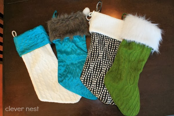 how to make custom stockings, the lazy way :) #fabulouslyfestive #fur #sweater #christmas #clevernest