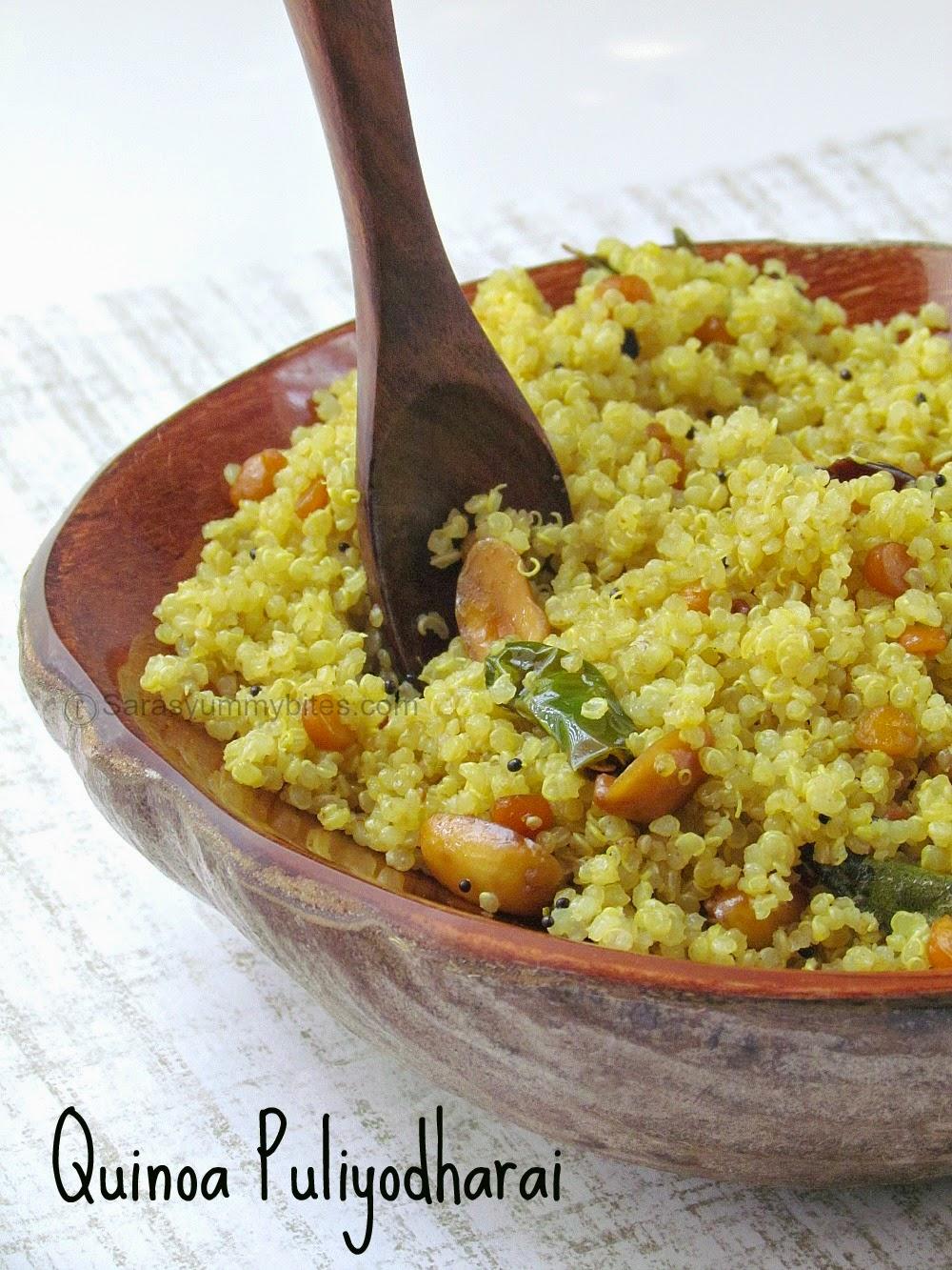 Quinoa Puliyodharai / Quinoa Puliyogare