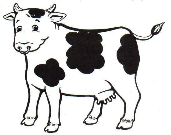 Dibujos de una vaca - Imagui