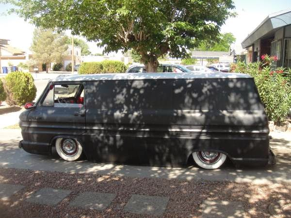 Bagged 1963 Chevrolet Corvair Greenbrier Pannel Van | Auto ...
