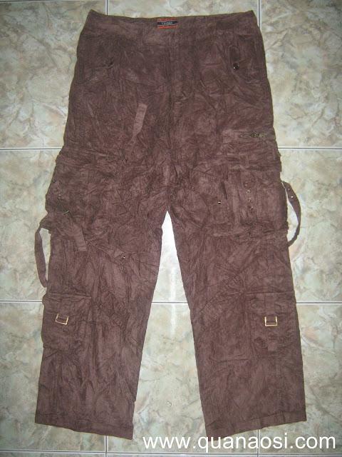 Quần kaki túi hộp vải nhung giá rẻ 220k