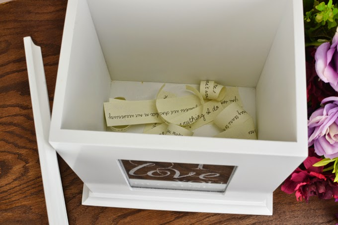 Creative Uses for Your Wedding Card Box - I Love You Because Love Note Box with Free Printable