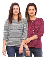 BUY vvoguish Quarter Sleeves Top (2 Pc Set) at Flat 63 % off &Instant 200 Cashback:buytoearn