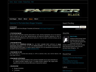 Faster Black Blogger Template