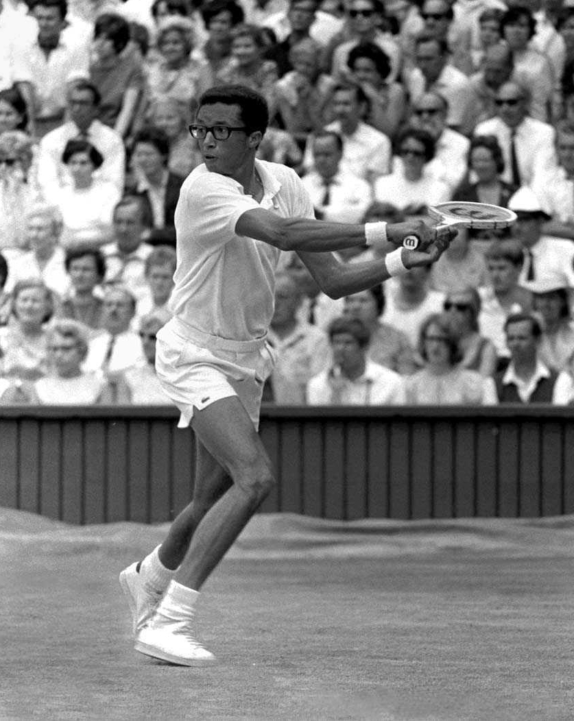 arthur ashe a tennis player Jimmy connors and arthur ashe pose before the start of the final or any other kind of power this is a win for the tennis player arthur ashe.