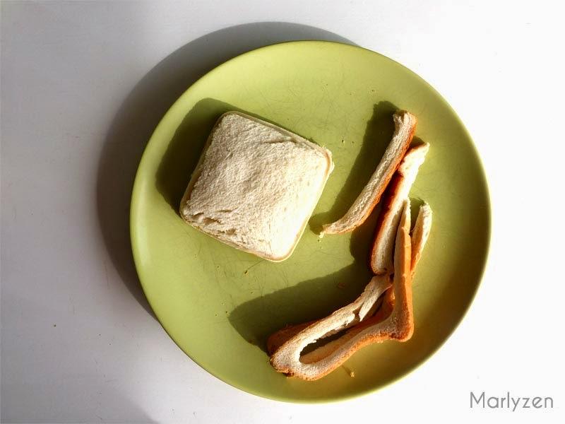 Club sandwich après découpe