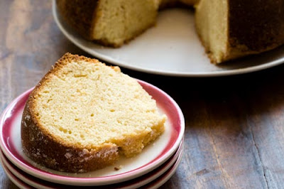 sour cream pound cake with ruby red grapefruit